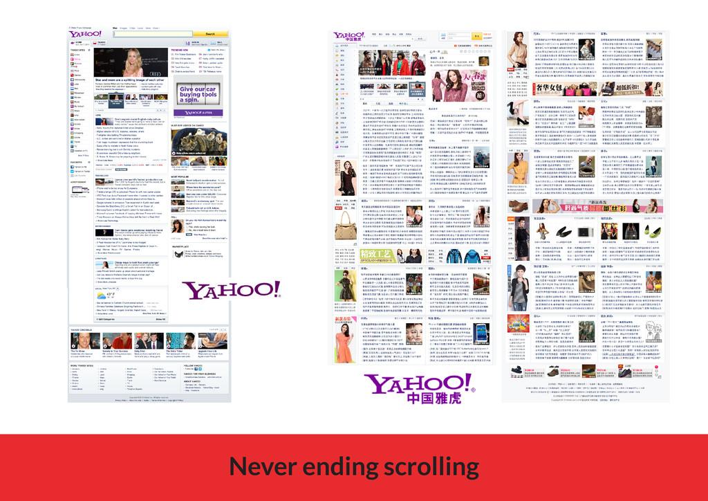 Never ending scrolling