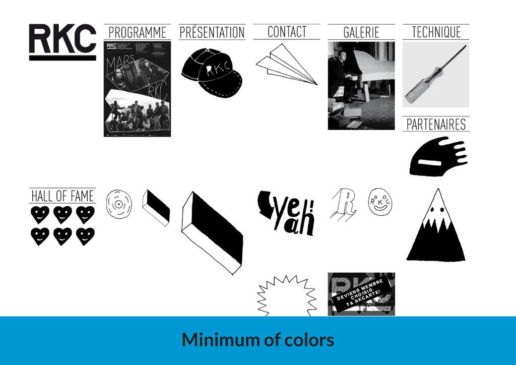 Minimum of colors
