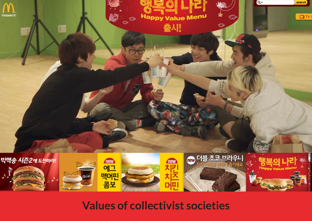 Values of collectivist societies