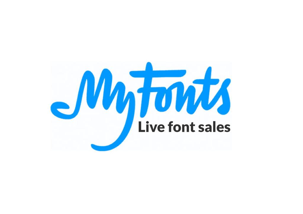 Live font sales