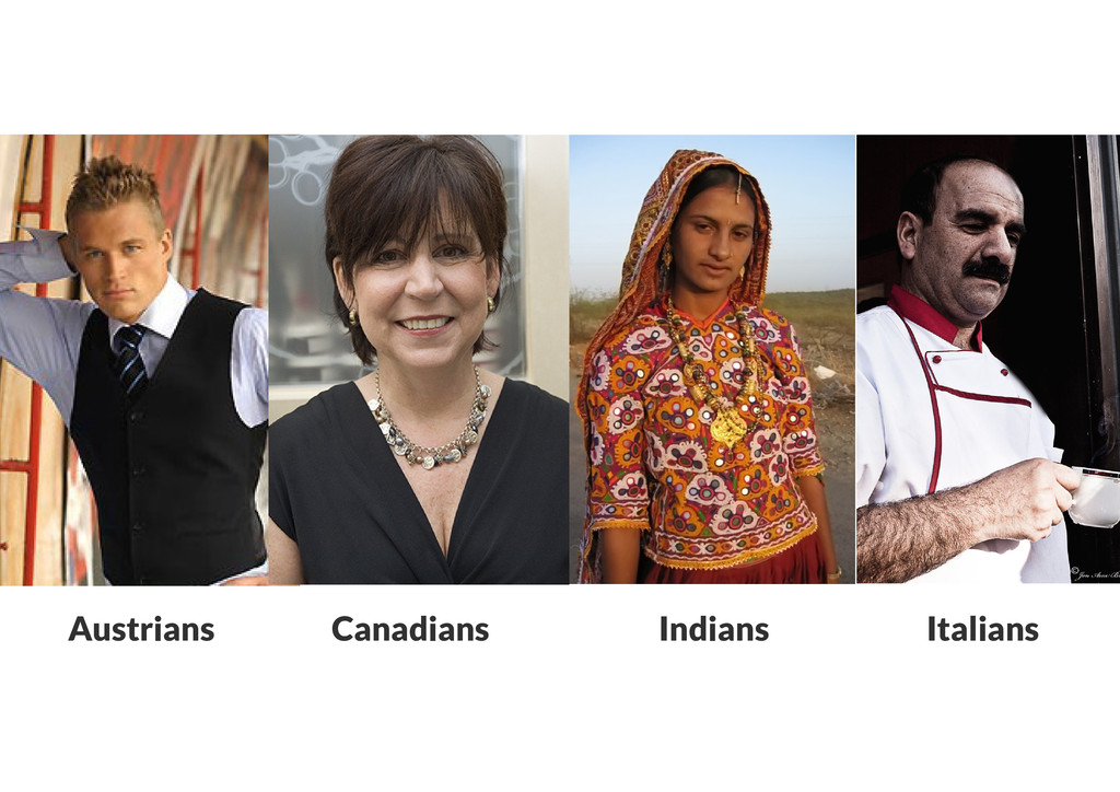 Austrians Canadians Indians Italians