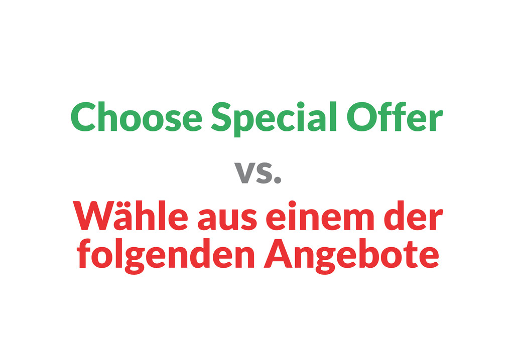 Wähle aus einem der folgenden Angebote vs. Choo...