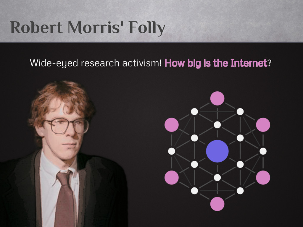 Robert Morris' Folly Wide-eyed research activis...