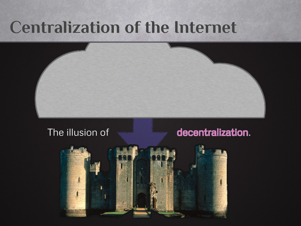 Centralization of the Internet The illusion of ...