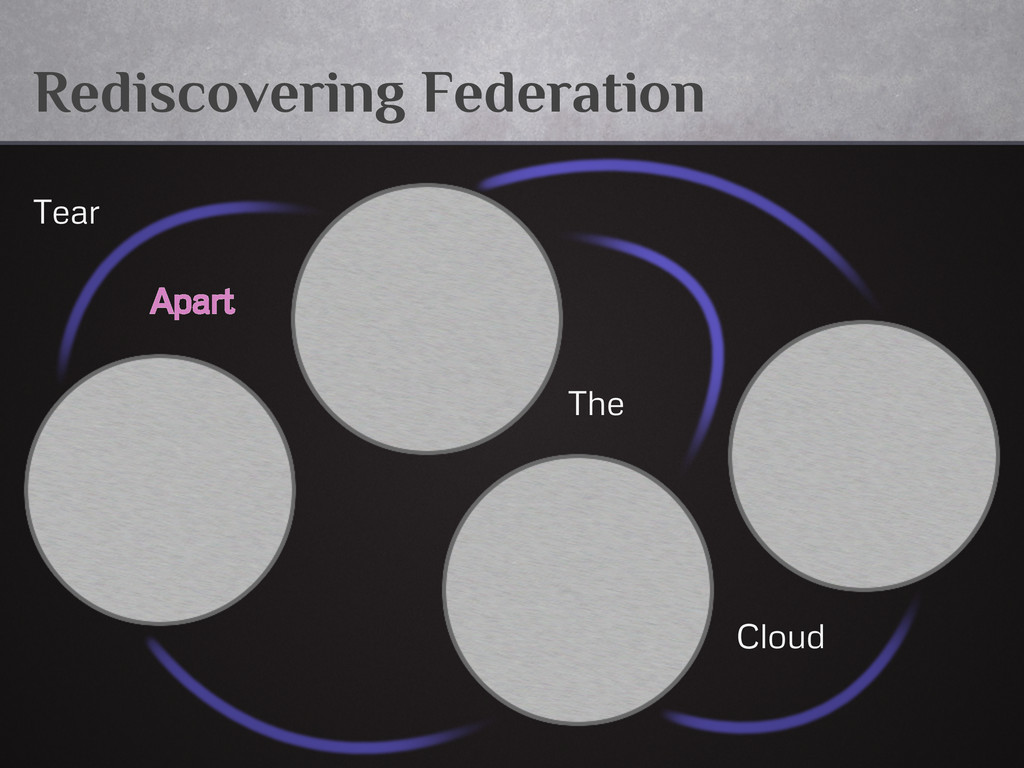 Rediscovering Federation Tear Apart The Cloud