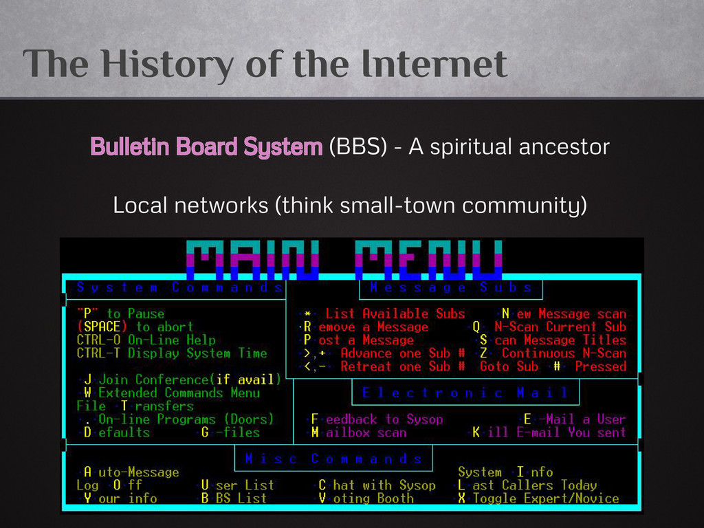 The History of the Internet Bulletin Board Syst...