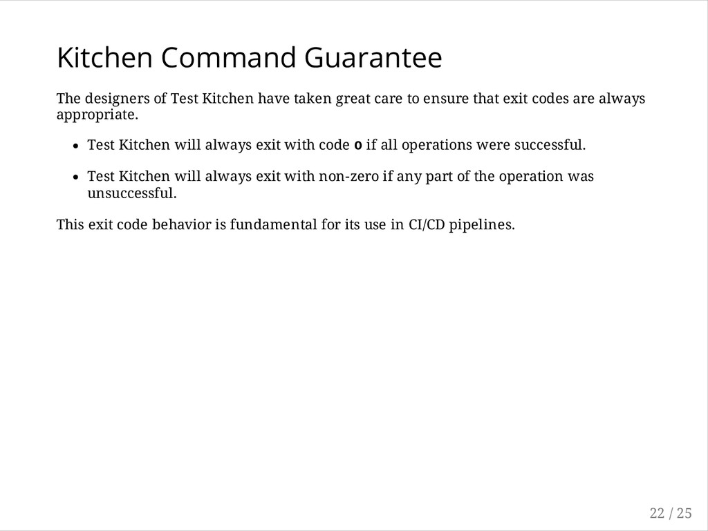 Kitchen Command Guarantee The designers of Test...