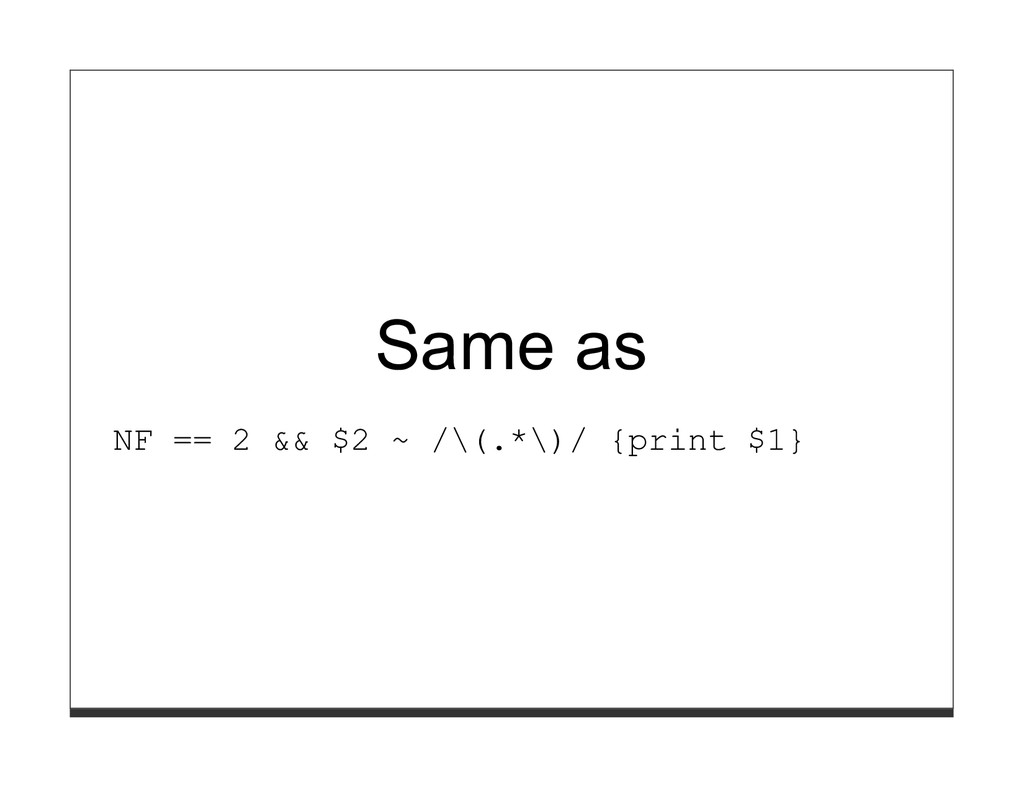 Same as NF == 2 && $2 ~ /\(.*\)/ {print $1}