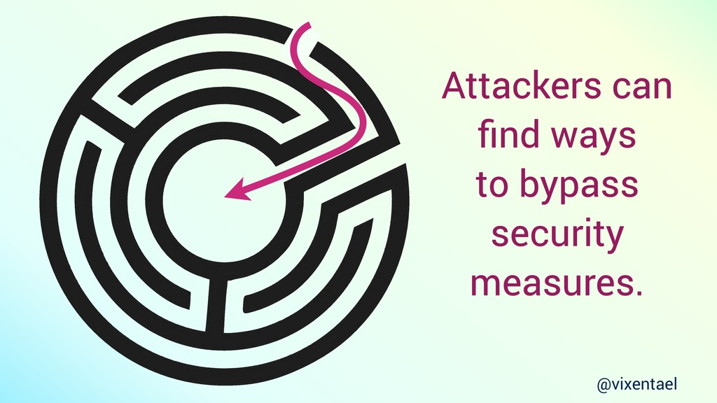 Attackers can find ways to bypass security measu...