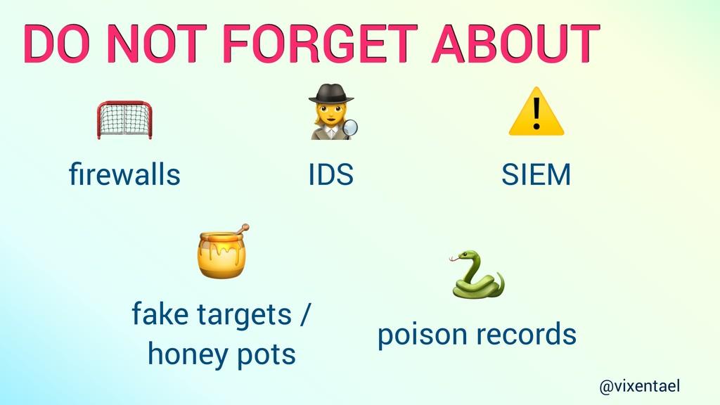 DO NOT FORGET ABOUT  firewalls 9 IDS ⚠ SIEM  fak...