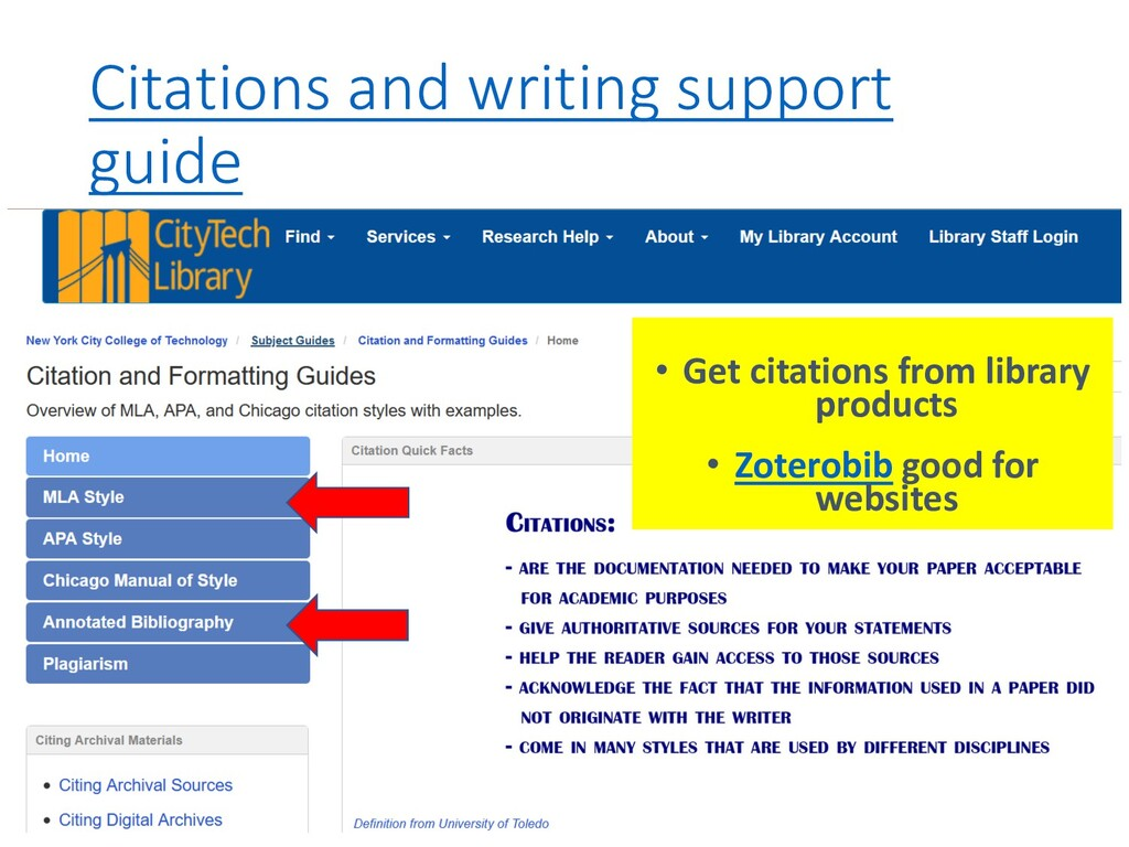 Citations and writing support guide • Get citat...
