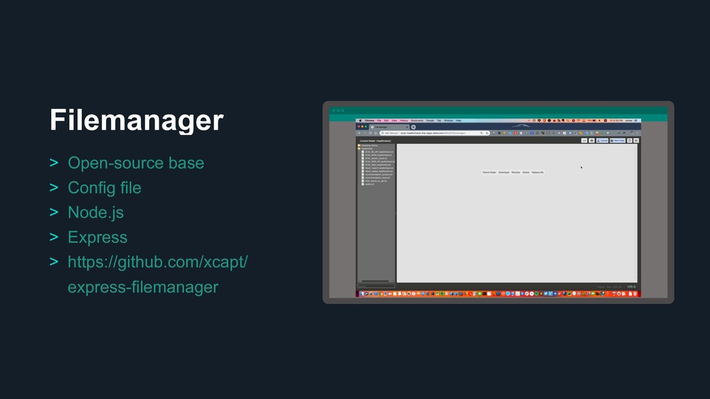 Filemanager Ƃ > Open-source base > Config file ...