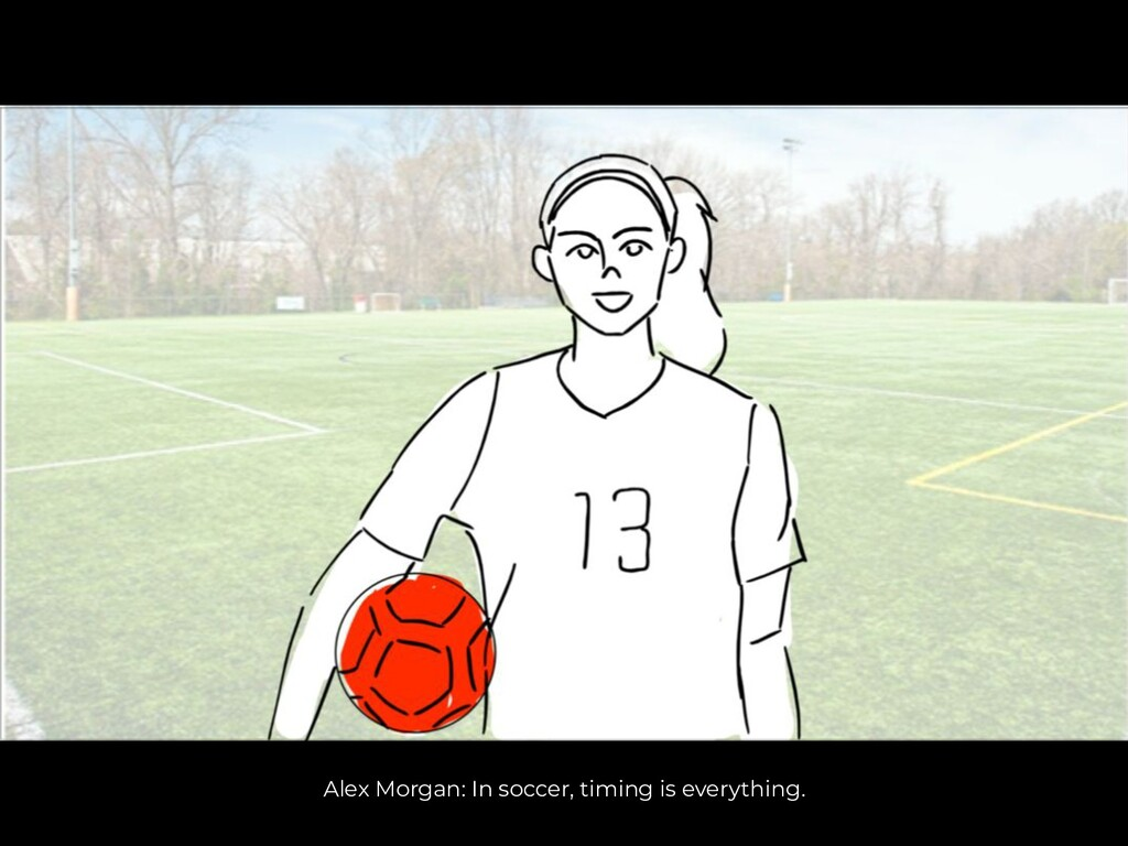 Alex Morgan: In soccer, timing is everything.