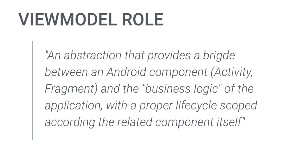 "VIEWMODEL ROLE ""An abstraction that provides a ..."