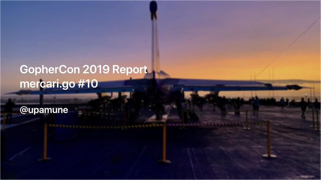 GopherCon 2019 Report mercari.go #10 @upamune