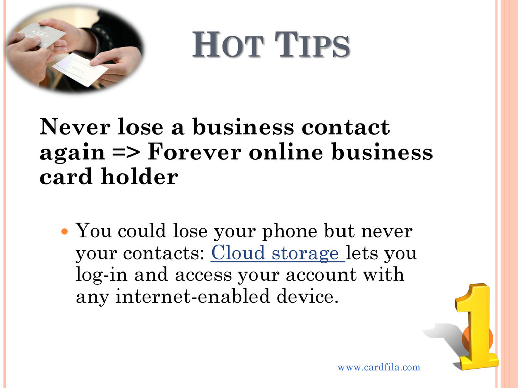 HOT TIPS Never lose a business contact again =>...