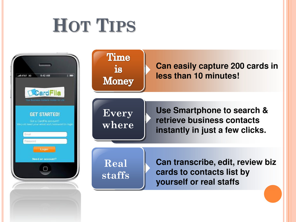 HOT TIPS Can easily capture 200 cards in less t...