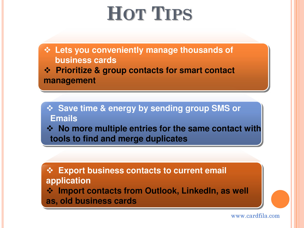 HOT TIPS  Lets you conveniently manage thousan...