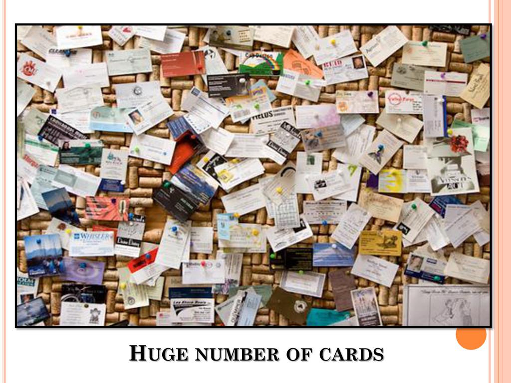 HUGE NUMBER OF CARDS