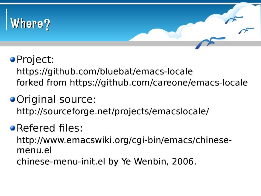 Where? Where? Project: https://github.com/blueb...