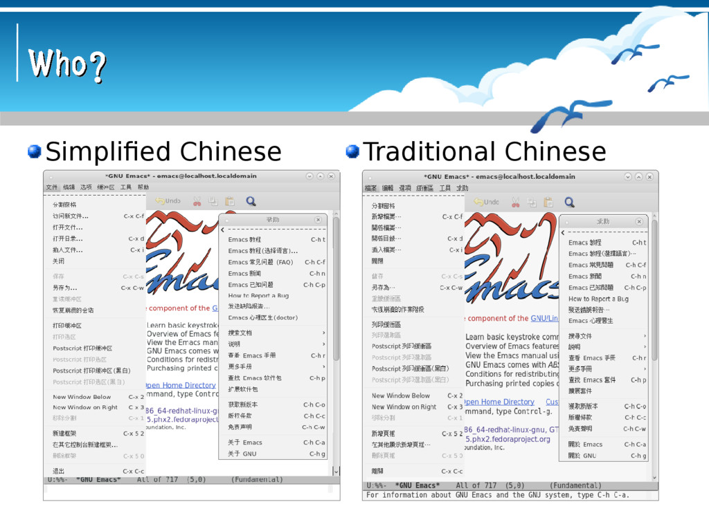 Who? Who? Simplified Chinese Traditional Chinese