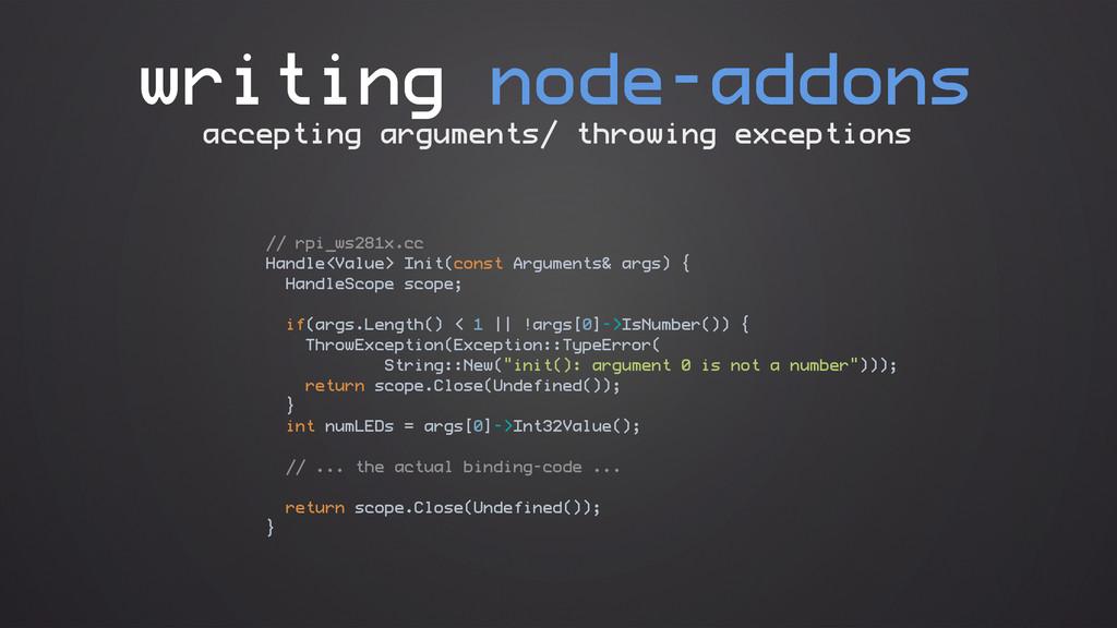 writing node-addons // rpi_ws281x.cc Handle<Val...