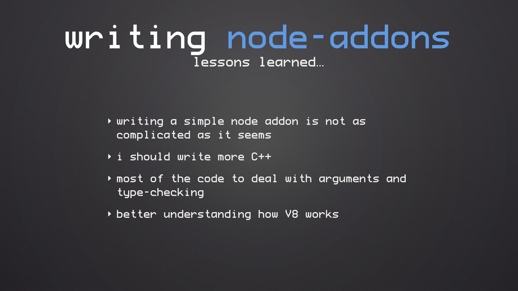 writing node-addons ‣ writing a simple node add...