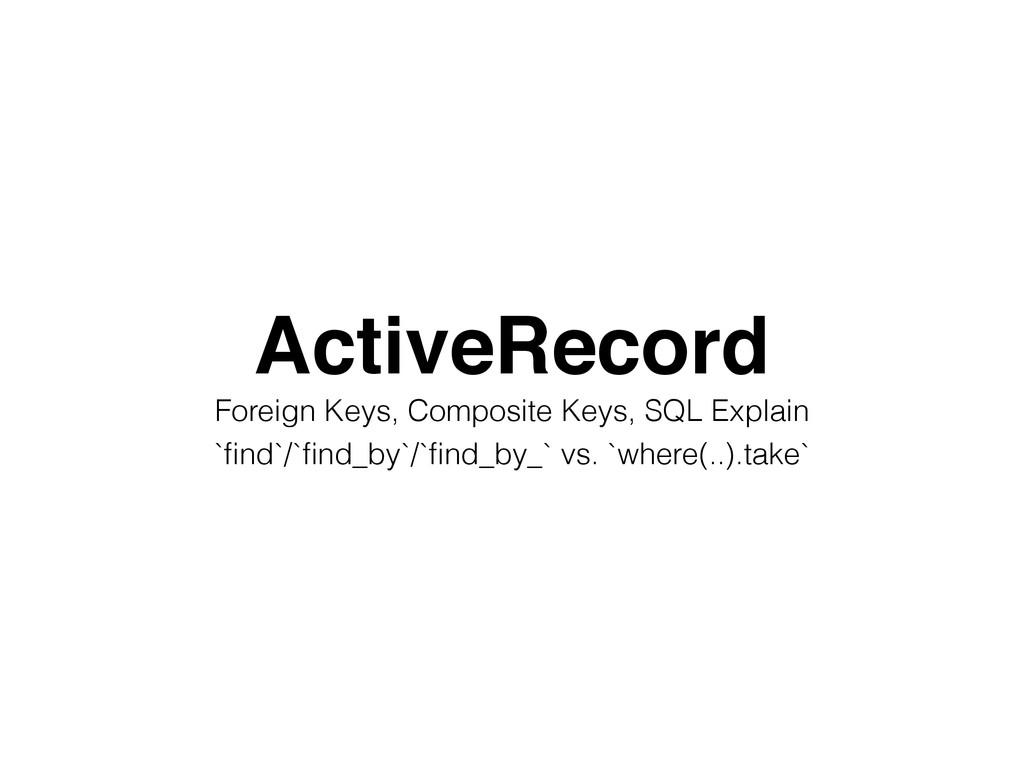 ActiveRecord! Foreign Keys, Composite Keys, SQL...
