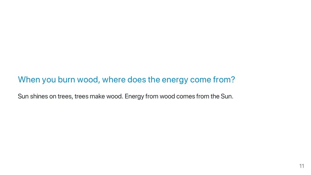 When you burn wood, where does the energy come ...