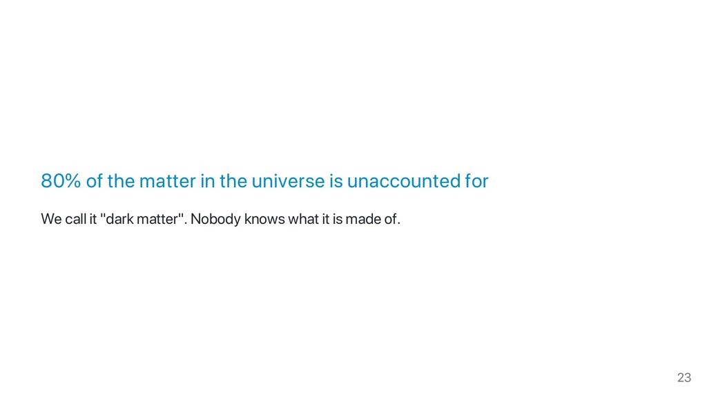 80% of the matter in the universe is unaccounte...