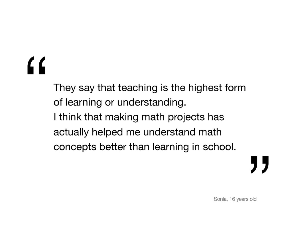They say that teaching is the highest form