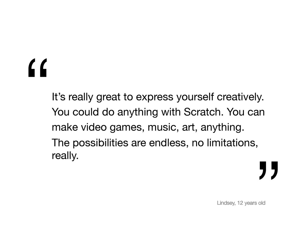 It's really great to express yourself creativel...
