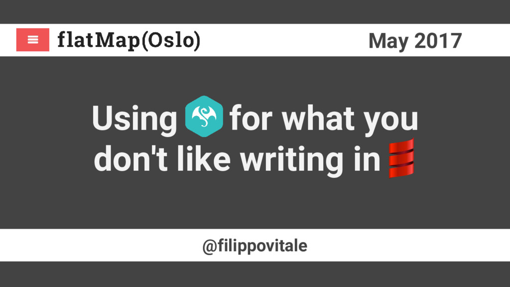 May 2017 @filippovitale Using for what you don'...
