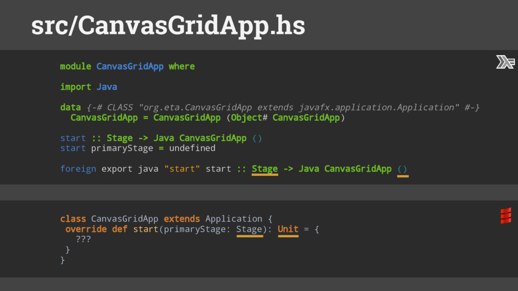 module CanvasGridApp where import Java data {-#...