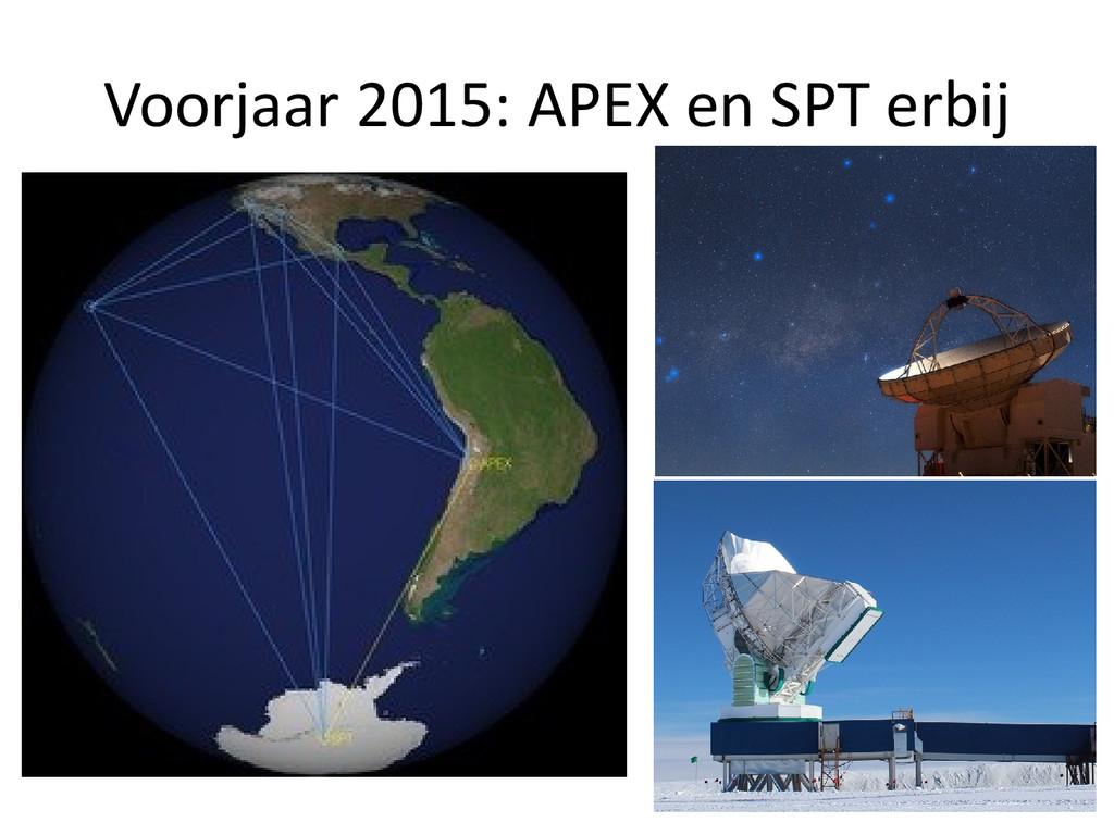 Voorjaar 2015: APEX en SPT erbij