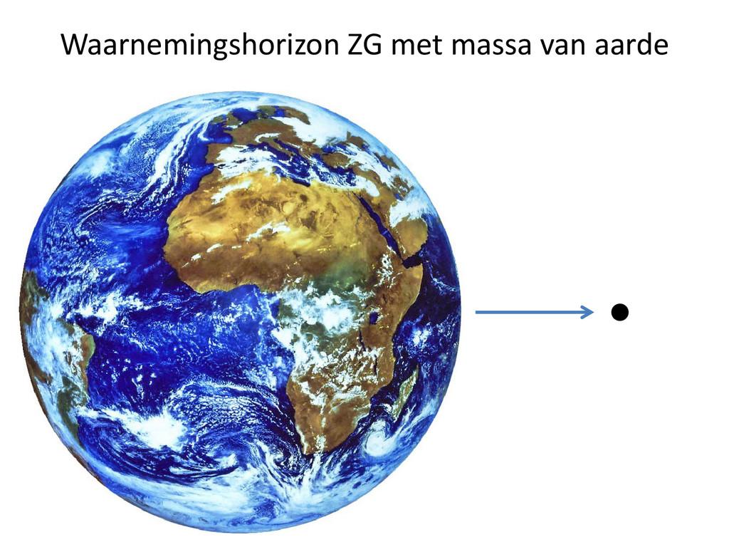 Waarnemingshorizon ZG met massa van aarde