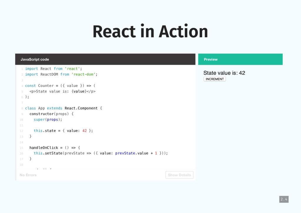 JavaScript code No Errors Show Details Preview ...
