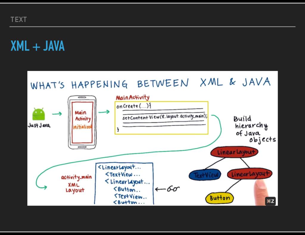 TEXT XML + JAVA