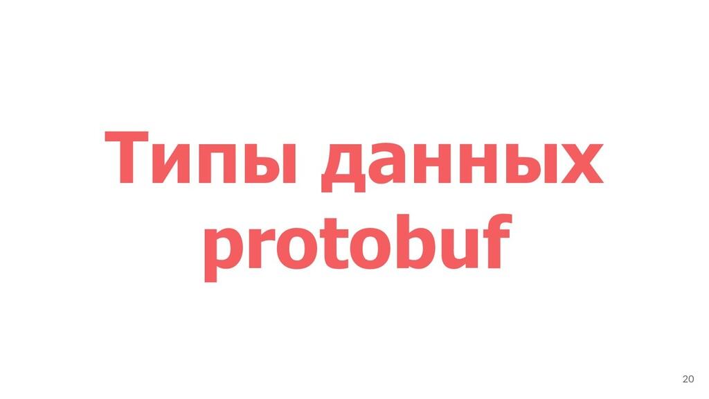 Типы данных protobuf 20