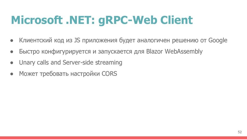 Microsoft .NET: gRPC-Web Client ● Клиентский ко...