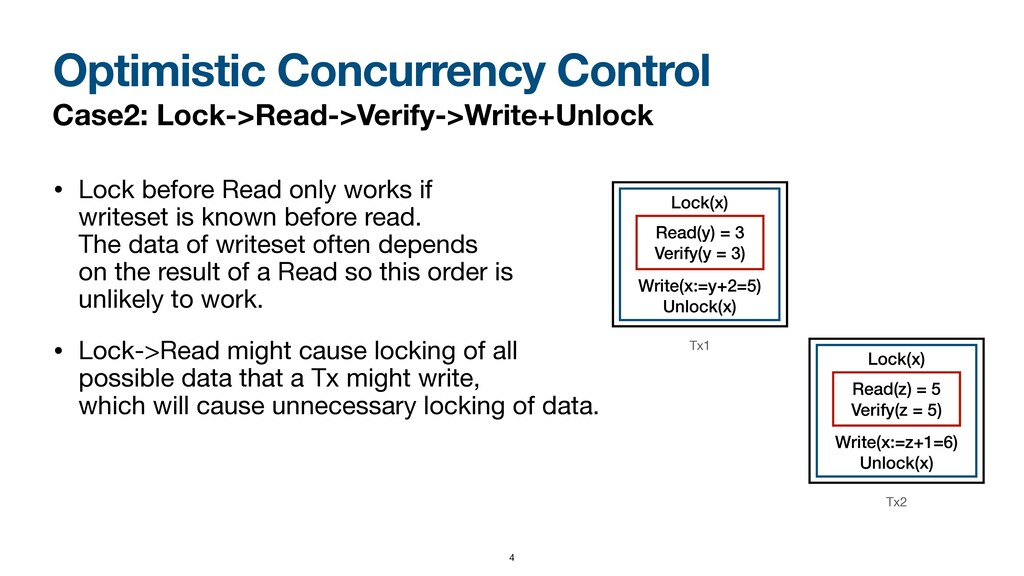 • Lock before Read only works if  writeset is ...