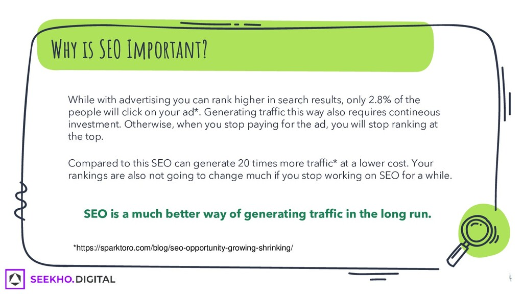 Why is SEO Important? While with advertising yo...