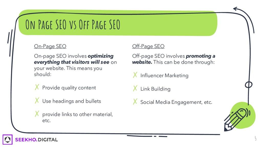 On-Page SEO On-page SEO involves optimizing eve...