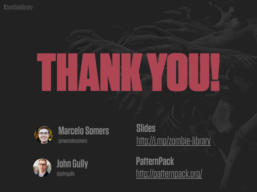 #zombielibrary THANK YOU! John Gully @johngully...