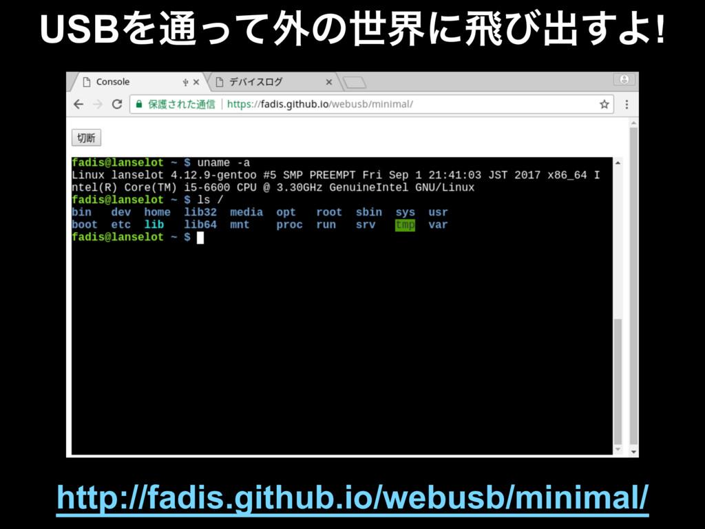 USBΛ௨ͬͯ֎ͷੈքʹඈͼग़͢Α! http://fadis.github.io/webus...