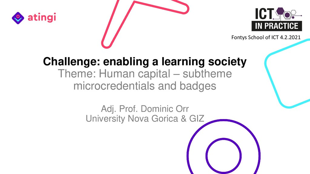 Challenge: enabling a learning society Theme: H...