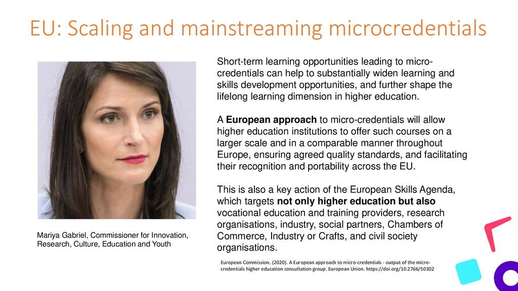 EU: Scaling and mainstreaming microcredentials ...