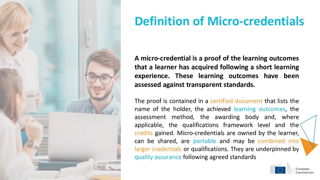 Definition of Micro-credentials A micro-credent...