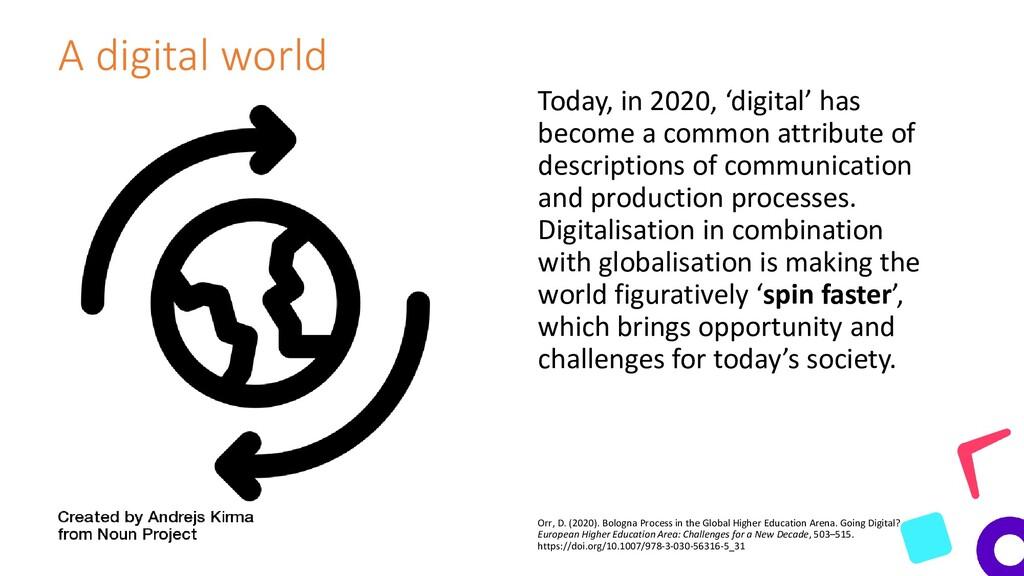 A digital world Today, in 2020, 'digital' has b...