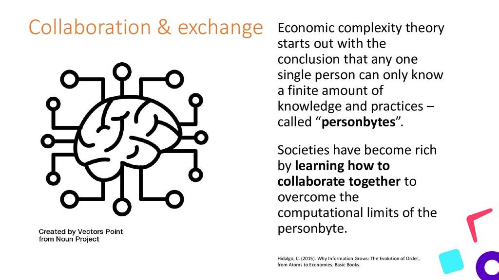 Collaboration & exchange Economic complexity th...